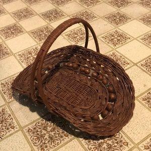 Vintage Wicker gathering basket